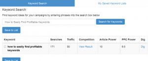 How to Easily Find Profitable Keywords