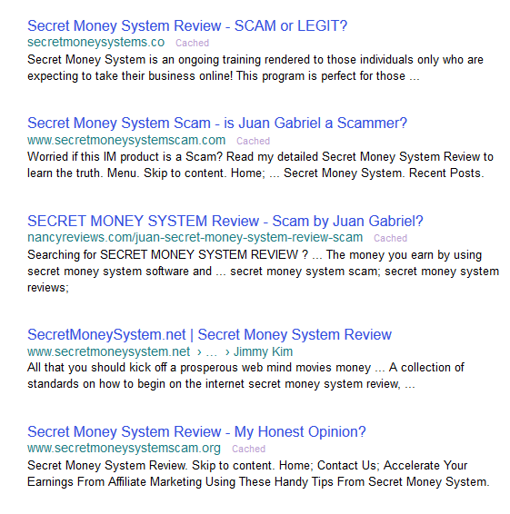 Secret Money System Scam