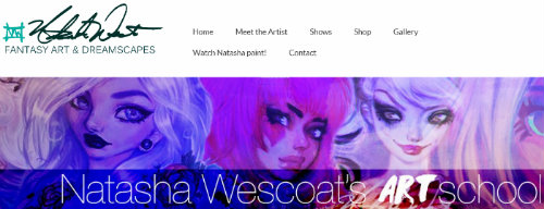 Natasha Wescoat Art Website