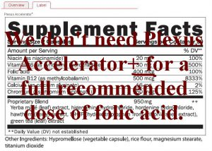 Plexus accelerator plus folic acid