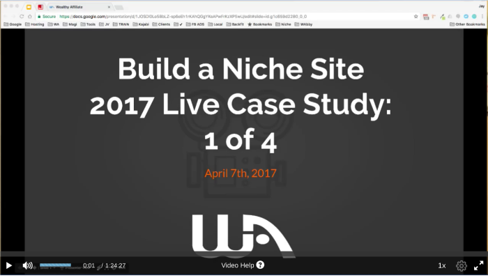 Wealthy Affiliate Live Webinar Hosted By Jay