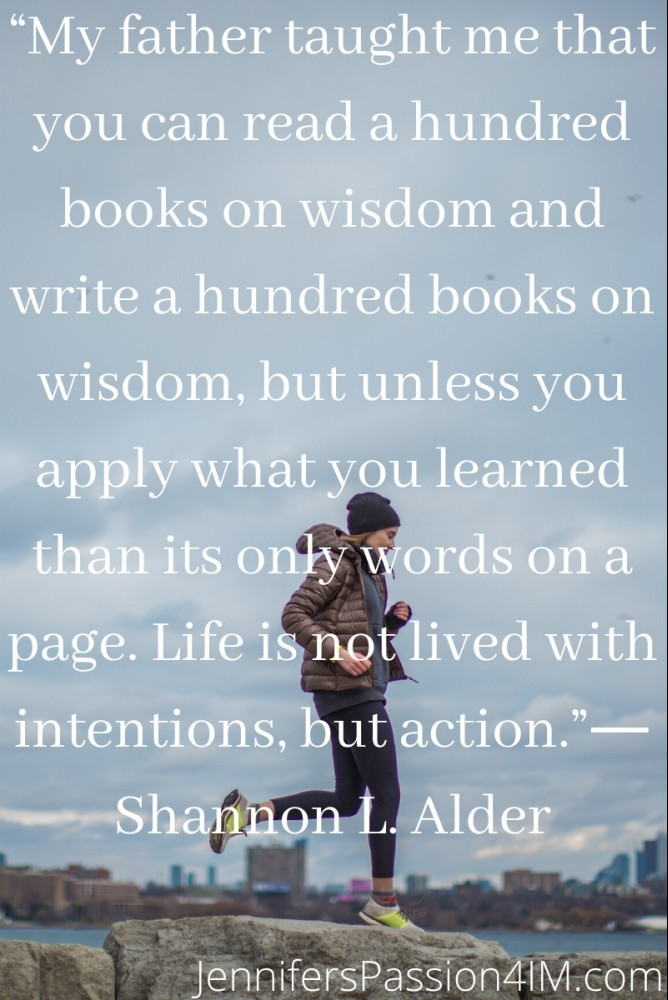 Apply What You Learn Success Quote By Shannon Alder