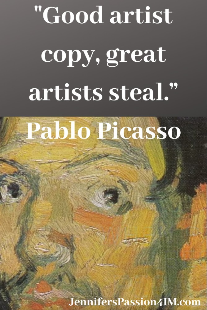 Good Artists Copy Quote Pablo Picasso