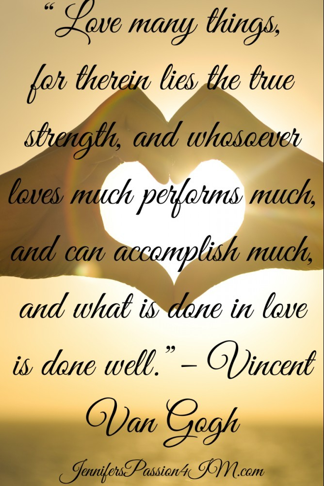 Love Many Thinds Success Quote Vincent Van Gogh