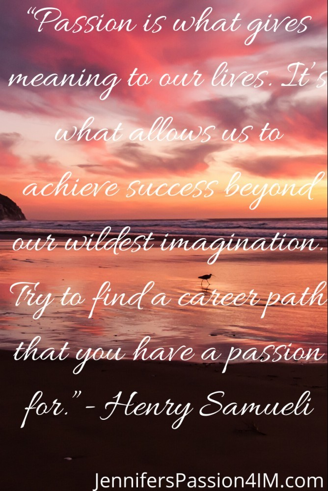 Passion Quote by Henry Samuel
